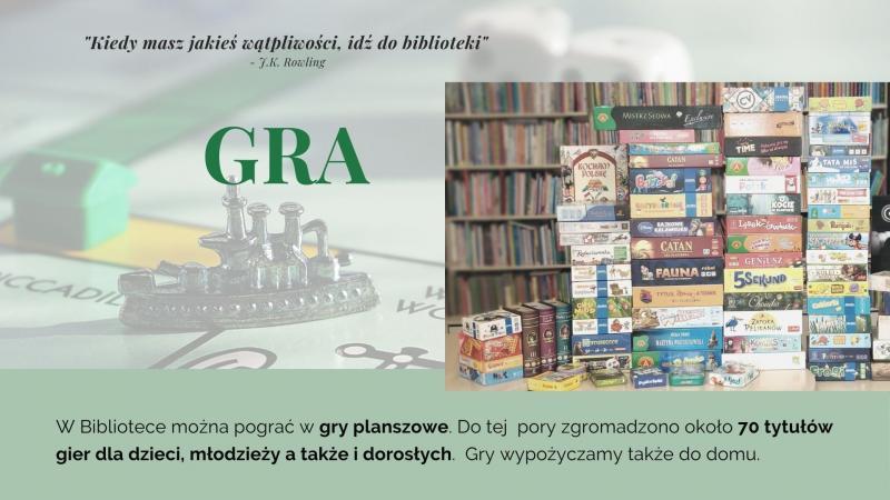 Część piąta prezentacji na Tydzień Bibliotek, znajdziesz mnie w bibliotece - gra